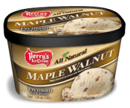 Maple Walnut All natural mouth-watering maple ice cream with walnuts.