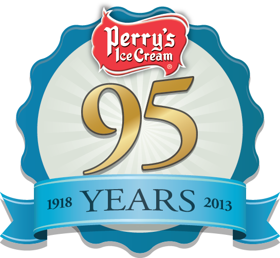 Perry's Ice Cream 95th Anniversary Logo